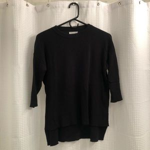 Frame cashmere blend sweater with half sleeves